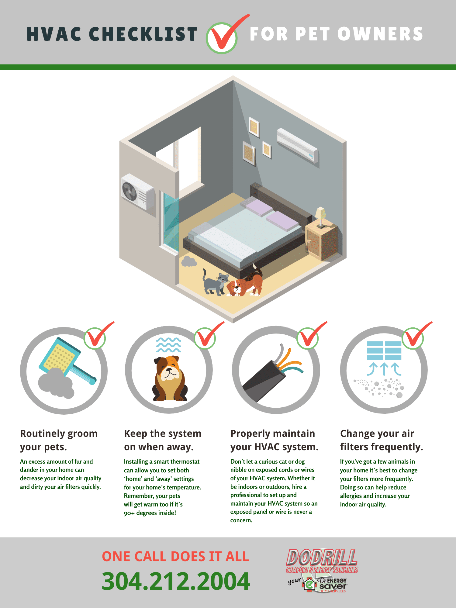 [INFOGRAPHIC] HVAC Checklist for Pet Owners
