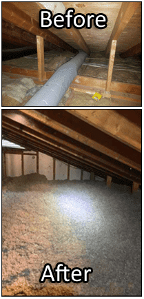 Before & After Air Sealing & Insulation
